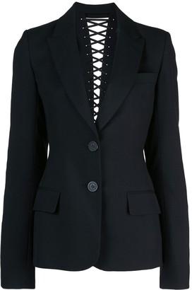 Vera Wang lace up back detail blazer
