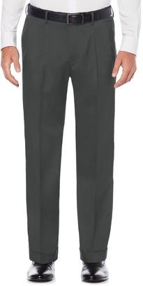 Savane Big & Tall Straight-Fit Stretch Crosshatch Pleated Dress Pants