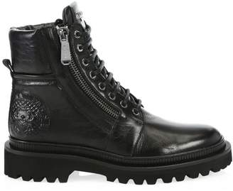 Balmain Army Ranger Leather Combat Boots