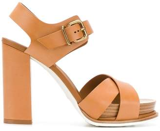 Tod's crossover sandals