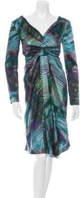 Alberta Ferretti Silk Printed Dress