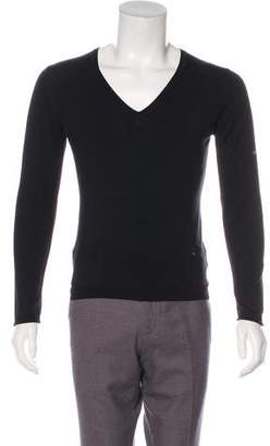 Burberry Silk V-Neck Sweater