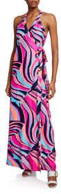 Sharon Tie-Waist Wrap Dress