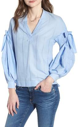 Scotch & Soda Bow Puff Sleeve Top