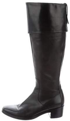 Balenciaga Knee-High Fold-Over Boots