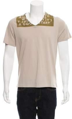 Maison Margiela AIDS Print Short Sleeve T-Shirt w/ Tags