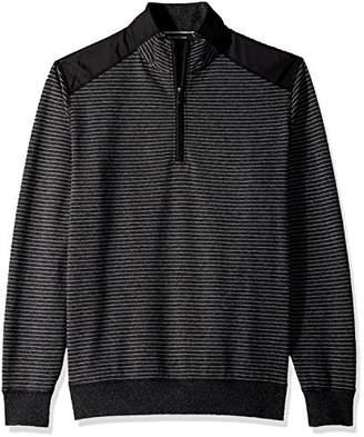 Bugatchi Men's Long Sleeve Half Zip Mock Pullover