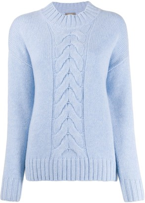 N.Peal cashmere cable-knit jumper