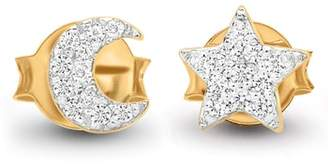 Missoma Pave Moon & Star Stud Earrings