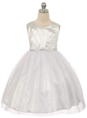 Kids Dream Luna- Sparkly Tulle Dress Silver