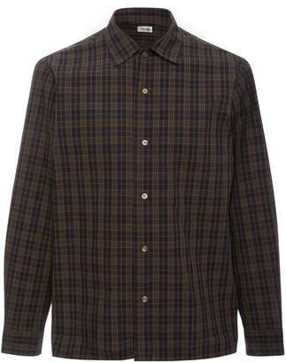 Camoshita Collared Plaid Shirt