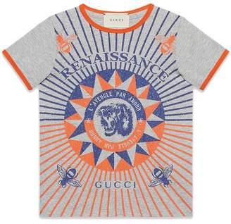 Gucci Kids Children's cotton T-shirt with Renaissance print