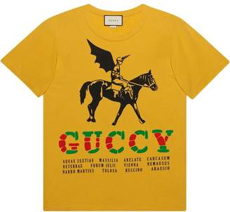 Gucci Oversize t-shirt with winged jockey