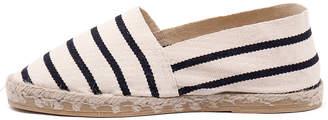 La maison de l'espadrille La maison de l'espadrille 320 Ecru-marine Shoes Womens Shoes Casual Flat Shoes
