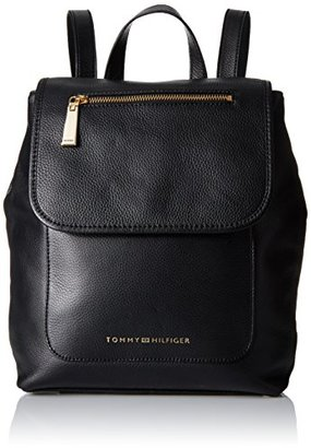 Tommy Hilfiger Emilia Leather Backpack $80.14 thestylecure.com