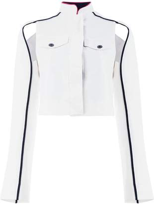 Haider Ackermann cropped cut out detail jacket