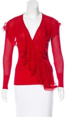 Jean Paul Gaultier Long Sleeve Ruffle Top