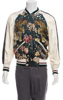 Dolce & Gabbana Floral Print Silk Jacket