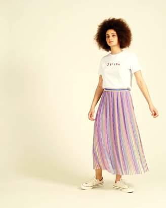 c1656768c3 Oliver Bonas Rainbow Wave Lilac Pleated Midi Skirt