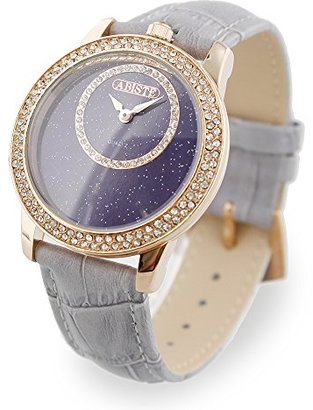 Abiste (アビステ) - [アビステ]ABISTE ラウンドフェイス型押しベルト腕時計 9170021