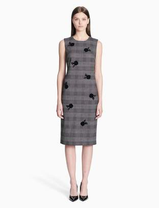 Calvin Klein floral plaid sheath dress