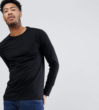 Asos Design DESIGN Tall long sleeve t-shirt with crew neck in black