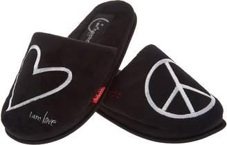 Peace Love World Signature Slippers