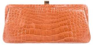 Lambertson Truex Crocodile Frame Clutch