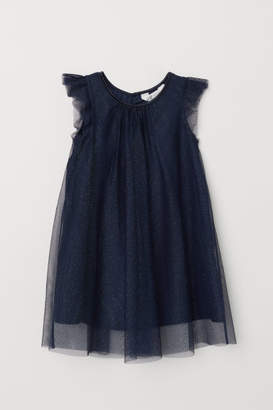 H&M Glittery Tulle Dress - Blue