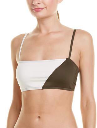 Vince Camuto Colorblocked Square Neck Bikini Top