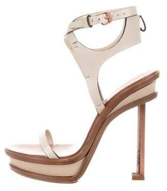 Calvin Klein Collection Platform Wooden Sandals