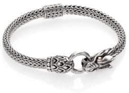 John Hardy Naga 18K Yellow Gold& Sterling Silver Dragon Station Chain Bracelet