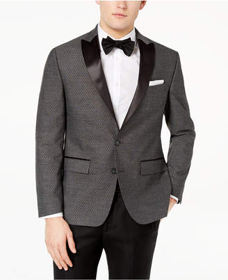 Ryan Seacrest Distinction Ryan Seacrest DistinctionTM Men's Modern-Fit Stretch Charcoal Diamond Jacquard Dinner Jacket, Created for Macy's