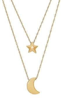 Saks Fifth Avenue 14K Yellow Gold Star and Moon Necklace