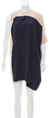 Richard Nicoll Silk Colorblock Dress