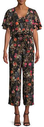 Marella Floral Flutter-Sleeve Jumpsuit