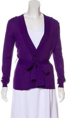Dolce & Gabbana Long-Sleeve Rib-Knit Cardigan
