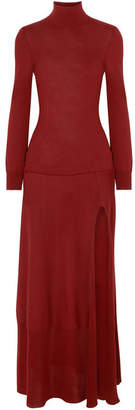 Jacquemus Baya Cutout Cotton-blend Maxi Dress - Burgundy