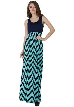 00bd91a0f9b at Amazon Canada · OMZIN Womens Plus Size Zig Zag Scoop Neck Wave Striped  Maxi Long Dress