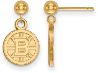 Logo Art Boston Bruins Earrings Dangle Ball (14k Yellow Gold)