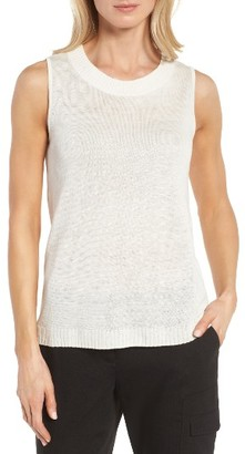 Women's Nordstrom Collection Linen & Silk Shell $149 thestylecure.com
