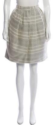 Peter Som Pleated Silk Skirt