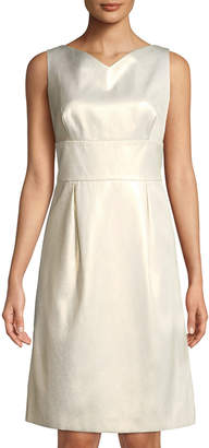Escada Sleeveless Shimmer Sheath Dress
