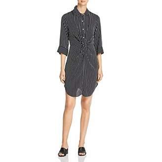 Three Dots Women's DA5848 Stripe Printed Shirt Dress