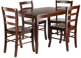 Winsome Wood Inglewood 5-PC Dining Table w/ Ladderback Chairs Set