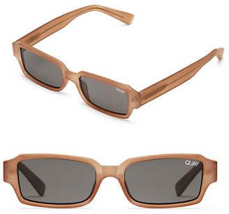 Quay Strange Love Mini Rectangle Sunglasses