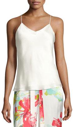 Josie Natori Key Essentials Silk Camisole, White $175 thestylecure.com