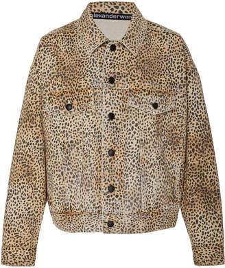 Alexander Wang Game Cheetah-Print Denim Jacket