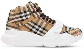 Burberry Low Top Check Canvas Sneakers