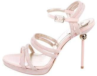 Roger Vivier Suede Cage Sandals w/ Tags